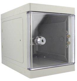 o27 Kunststoff Mini Schliessfach - grau/transparent