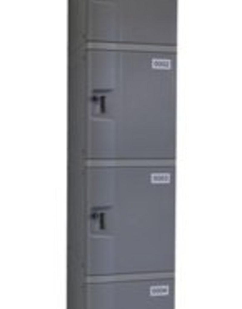 o27 Kunststoff Fächerschrank - S-II-4 - Drehriegelschloss