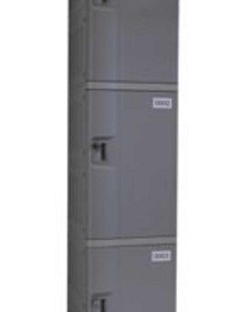 o27 Kunststoff Fächerschrank - S-II-3 - Drehriegelschloss