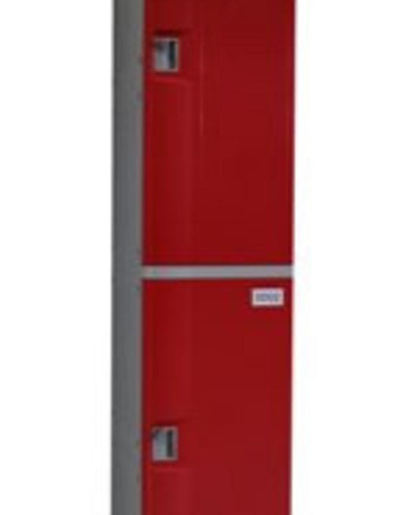 o27 Kunststoff Fächerschrank - S-II-2 - Zylinderschloss