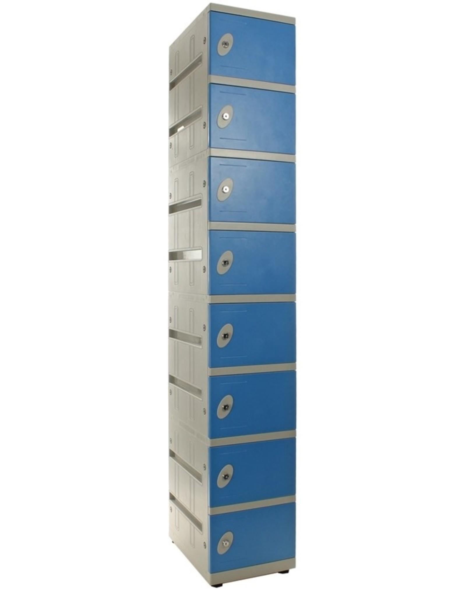 o27 Kunststoff Schließfachschrank mit 8 Fächern