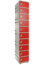 o27 Kunststoff Schließfachschrank mit 10 Fächern