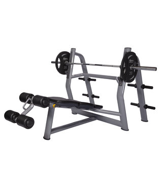 Athletic Performance Olympic Decline Bench Blue Line