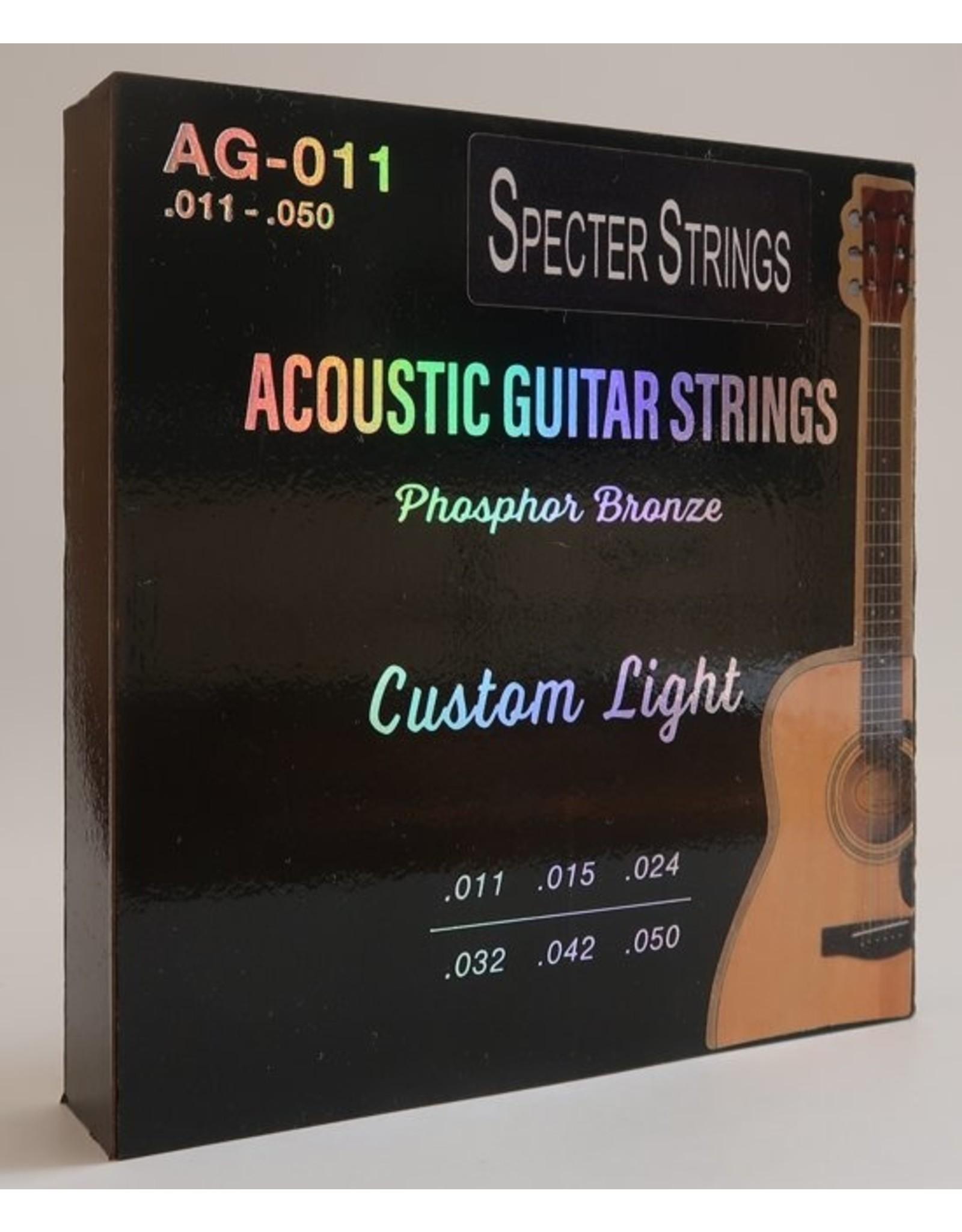Specter Strings Specter Strings professionele snaren voor de akoestische gitaar (western gitaar) set .011 Bronze - snarenset