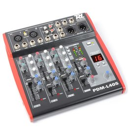 Power Dynamics Power Dynamics PDM-L405 Muziek Mixer 4-Kanaals MP3/ECHO