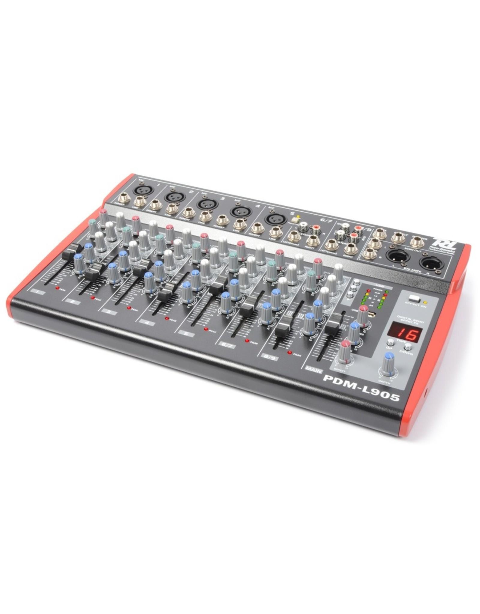 Power Dynamics Power Dynamics PDM-L905 Muziek Mixer 9-Kanaals MP3/ECHO