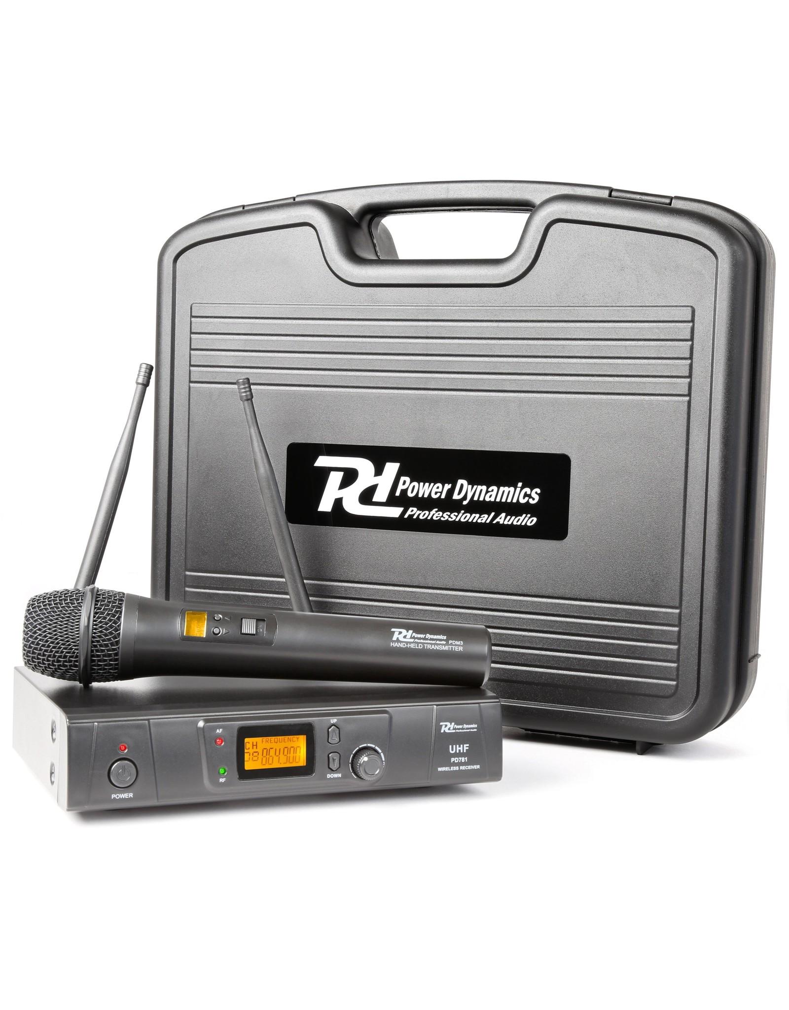 Power Dynamics Power Dynamics PD781 1x 8-Kanaals UHF Draadloos Microfoonsysteem met Microfoon