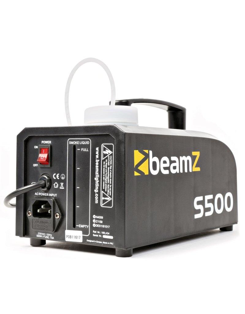 Beamz Beamz S500 Kunststof Rookmachine inclusief rookvloeistof
