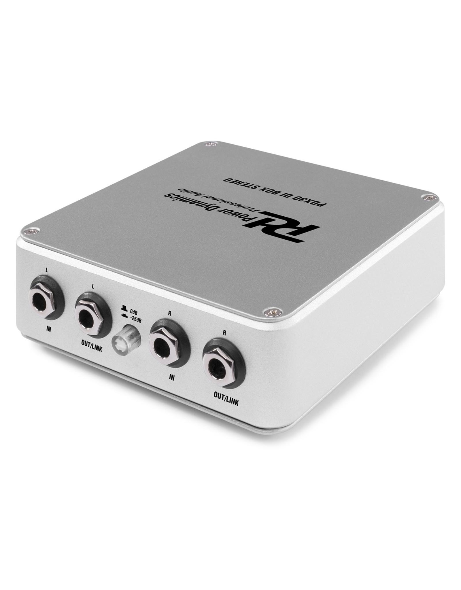 Power Dynamics Power Dynamics PDX30 Actieve DI BOX Stereo