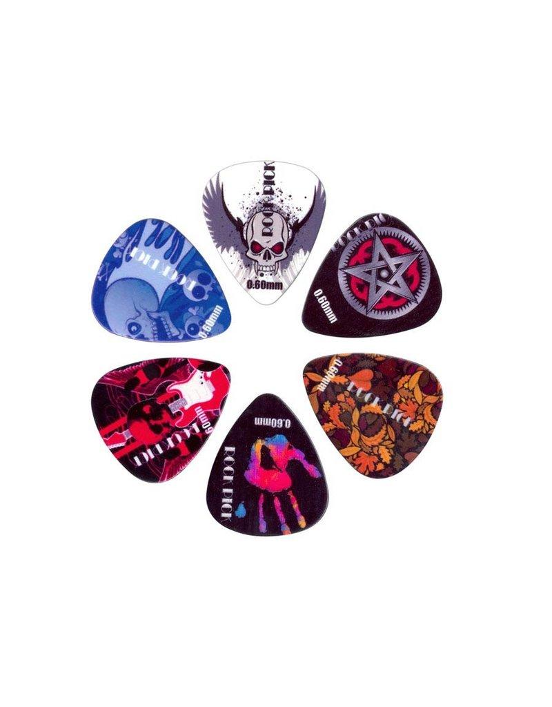Boston  BRP6-060| Boston Rock Picks plectrum 6-pack
