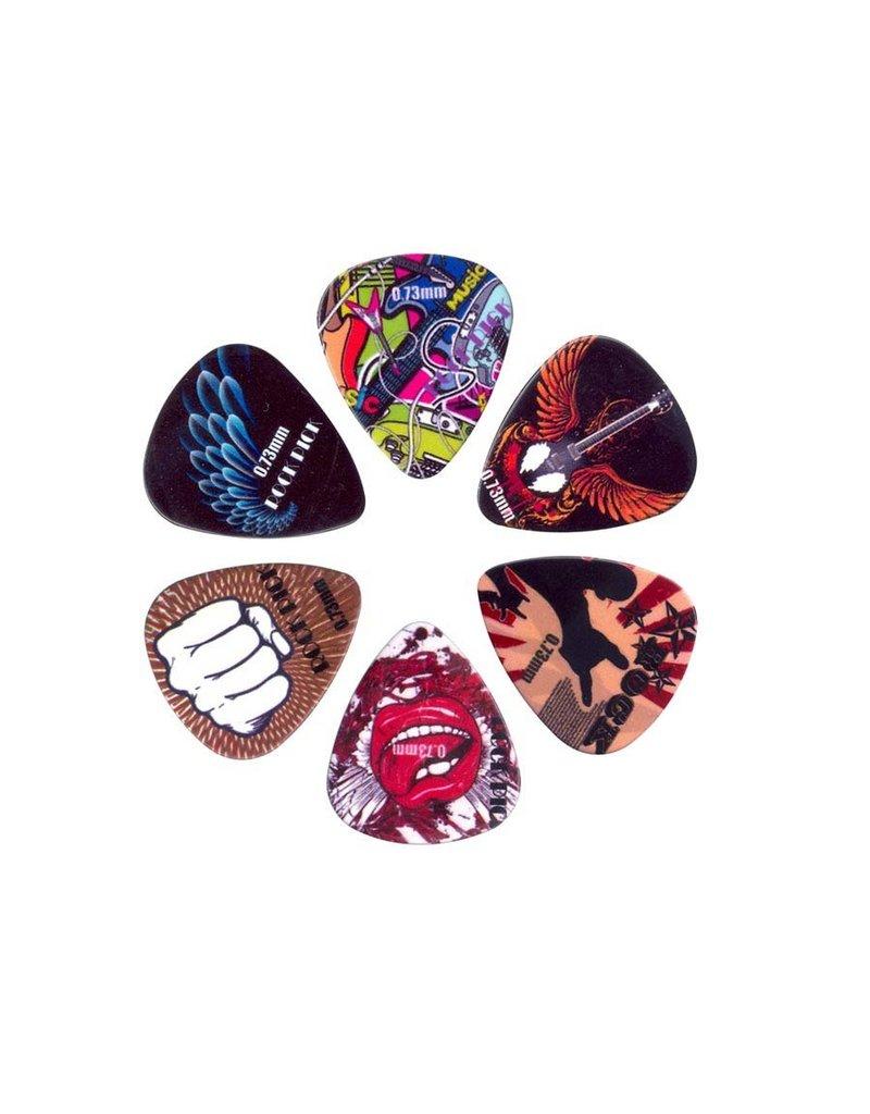 Boston  BRP6-073| Boston Rock Picks plectrum 6-pack