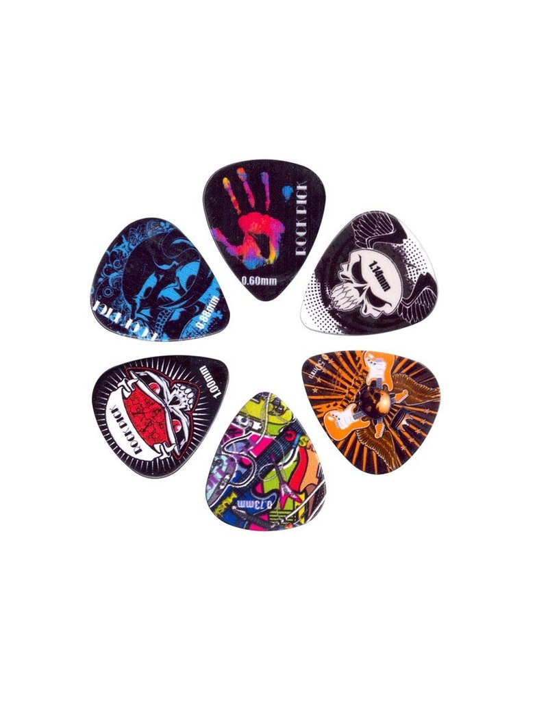 Boston  BRP6-MIX  Boston Rock Picks plectrum 6-pack