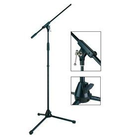 Boston  MS-1400-BK| Boston Stage Pro Series microfoonstatief met hengel en in hoogte verstelbaar 94-168cm