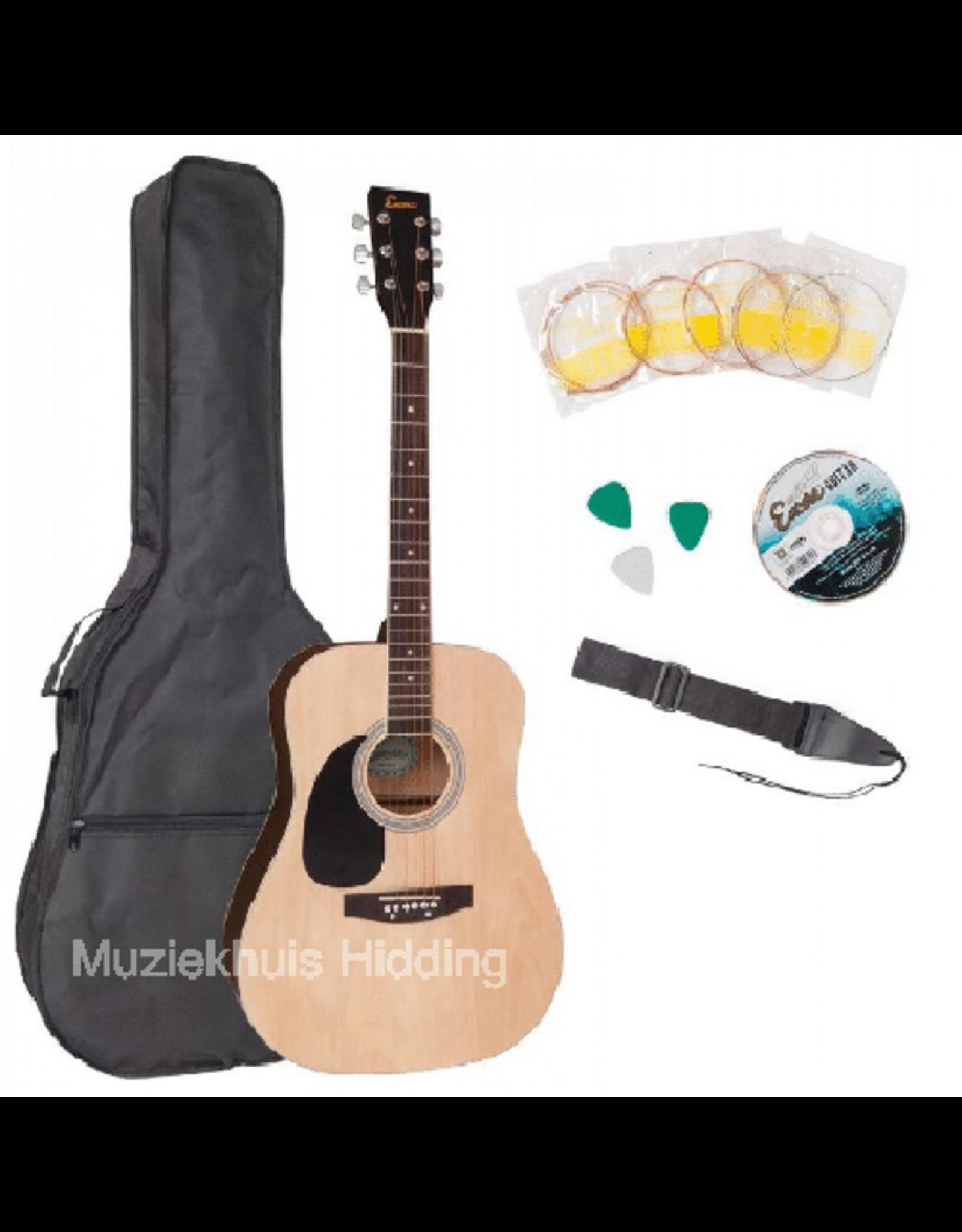 Encore Encore linkshandige akoestische gitaar naturel