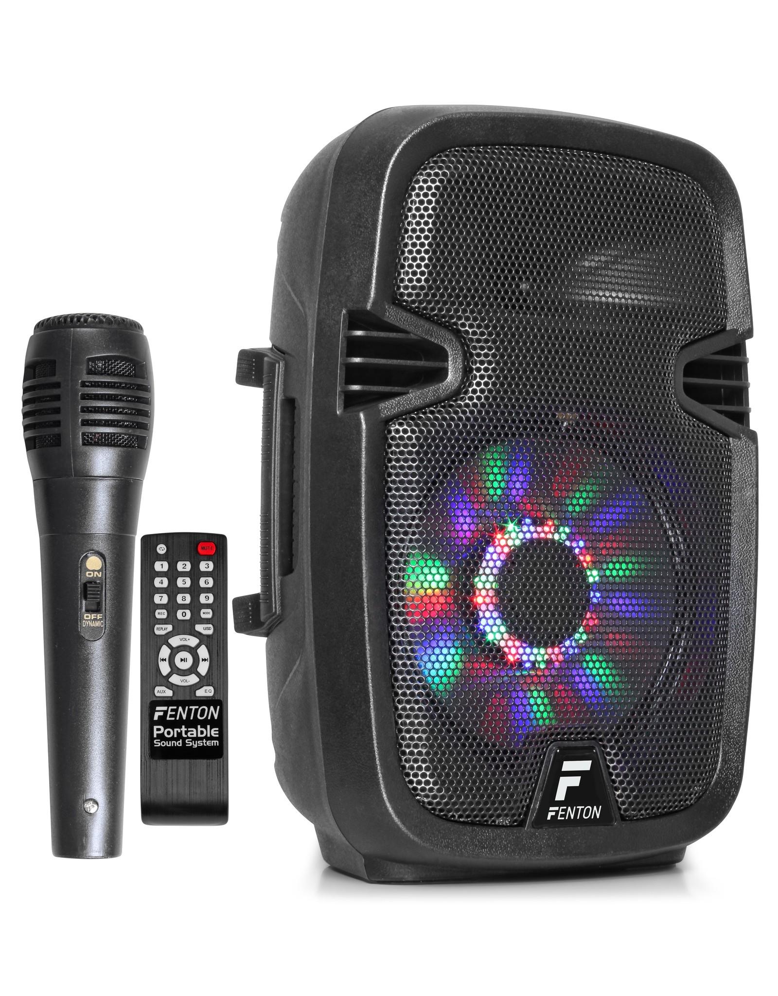 "Fenton FT8LED Portable Sound System met Accu 8"" 300W Bluetooth"