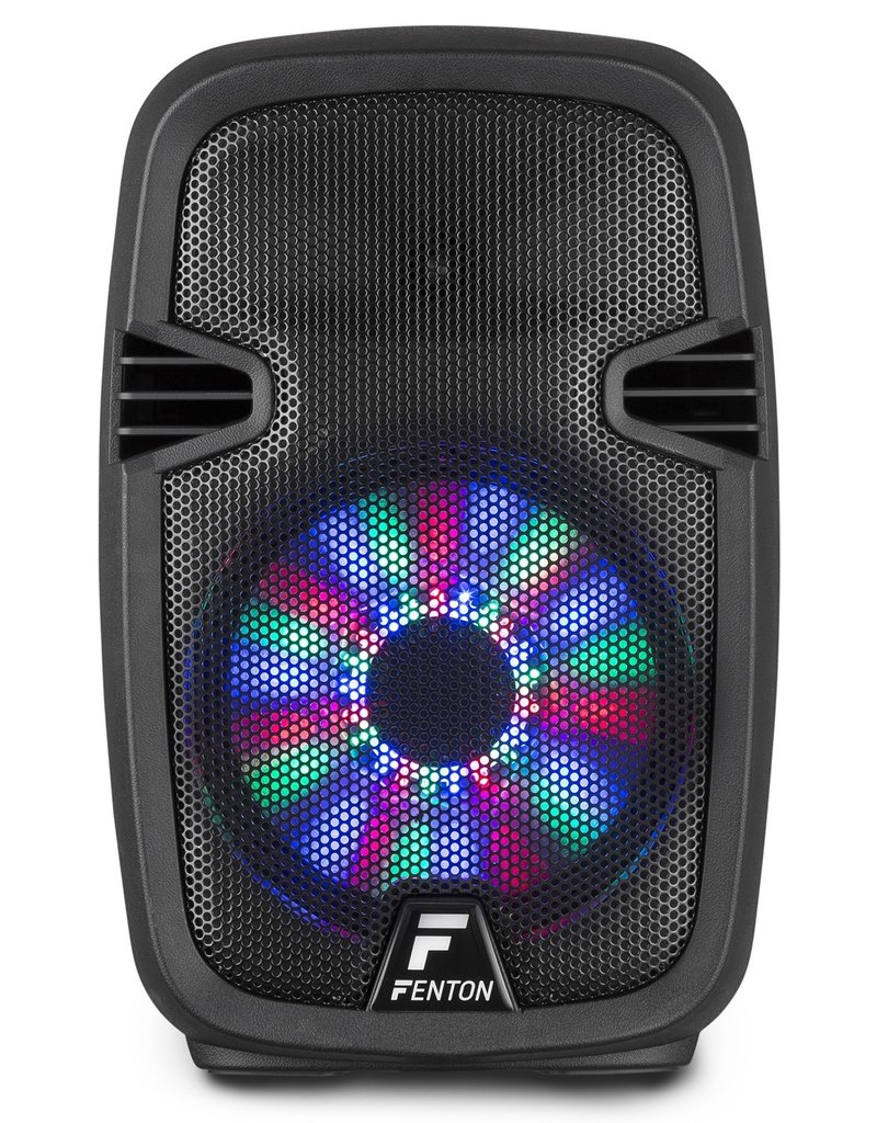 "Fenton FT8LED Portable Sound System met Accu 8"" 300W Bluetooth"