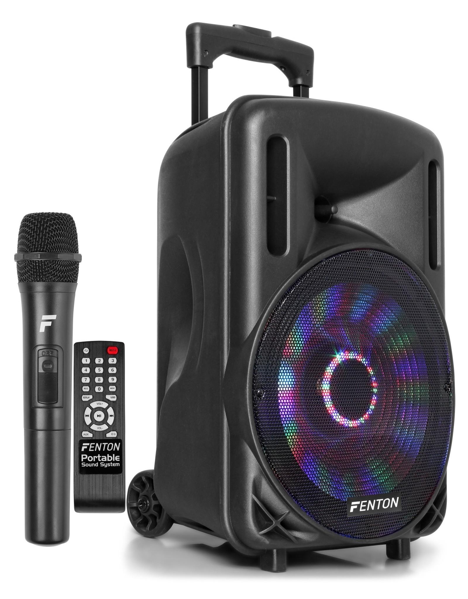 "Fenton FT10LED Portable Sound System met Accu 10"" 450W Bluetooth"