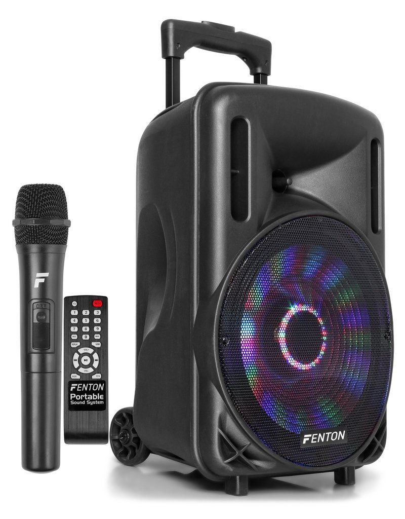 "Fenton FT10LED Portable Sound System met Accu 10"" 450W Bluetooth"