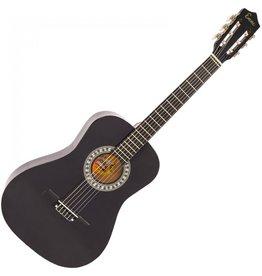 Encore Klassieke gitaar 3/4 91cm Zwart incl.  | Gitaartas | Gitaarsnaren | Gitaarband | Plectrums | Stemfluit | Zelfstudie DVD | Gitaarset