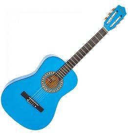 Encore Klassieke gitaar 3/4 91cm Blauw incl.  | Gitaartas | Gitaarsnaren | Gitaarband | Plectrums | Stemfluit | Zelfstudie DVD | Gitaarset