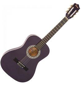 Encore Klassieke gitaar 3/4 91cm Paars incl.  | Gitaartas | Gitaarsnaren | Gitaarband | Plectrums | Stemfluit | Zelfstudie DVD | Gitaarset