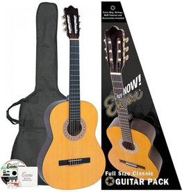 Encore Klassieke gitaar met nylon snaren incl. | Gitaartas | Reserve snaren | Stemfluit | Zelfstudie DVD