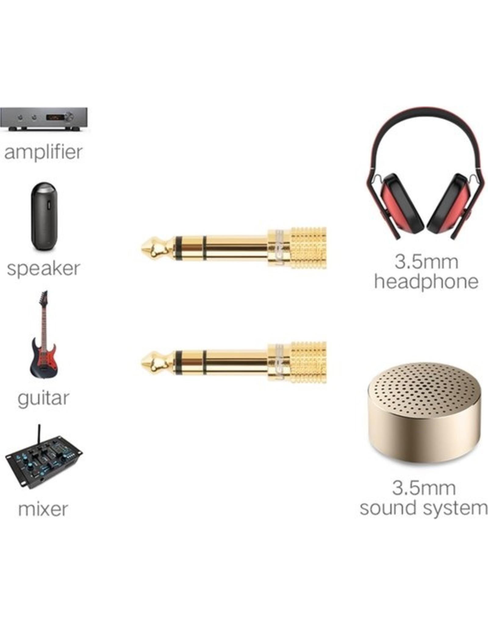 boston Audio plug - 2 stuks - 6,3mm naar 3,5mm - Verguld