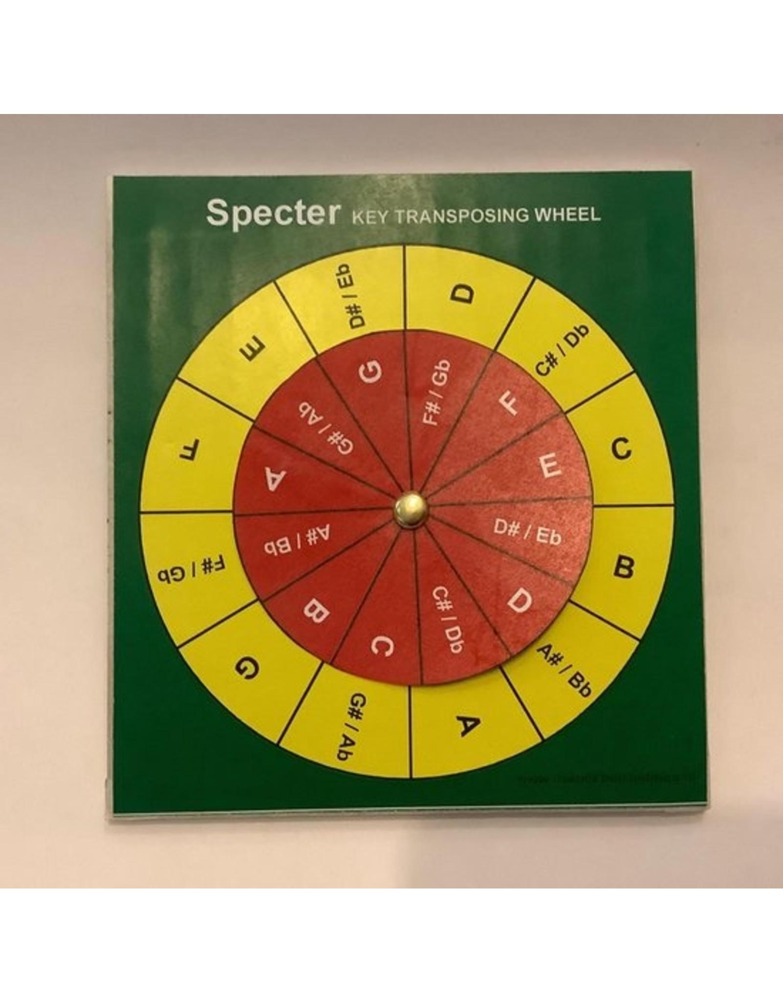 Specter Specter Transposing Wheel - Gemakkelijk omzetten van Muziekstukken en akkoorden - Muziek transponeren - Gitaar - piano - Keyboard - ukelele
