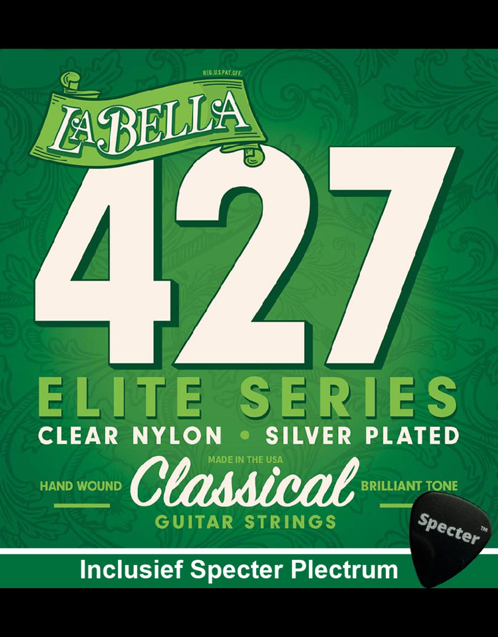 La Bella La Bella Pro Elite Gitaarsnaren Voor De Klassieke Gitaar Met Specter Plectrum   Snarenset   Klassiek   Nylon