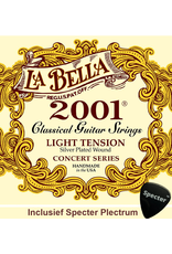 La Bella La Bella Pro 2001 Gitaarsnaren Voor De Klassieke Gitaar Met Specter Plectrum | Snarenset | Klassiek | Nylon