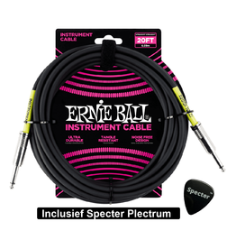 Ernie Ball Ernie Ball Gitaarkabel 6 Meter Met Specter Plectrum | Gitaarkabel | Instrumentkabel