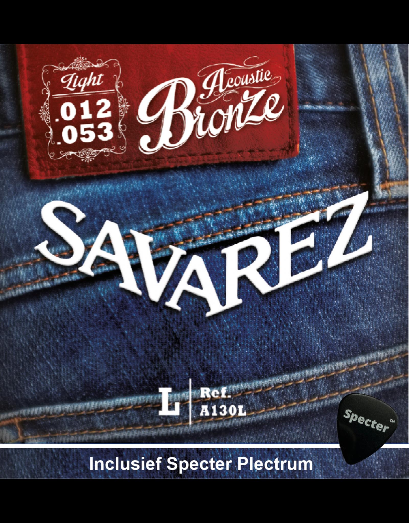 Savarez Savarez A130L Premium Gitaarsnaren Voor De Akoestische Gitaar Met Specter Plectrum   Snarenset   Akoestisch   Stalen Snaren