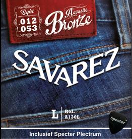 Savarez Savarez A130L Premium Gitaarsnaren Voor De Akoestische Gitaar Met Specter Plectrum | Snarenset | Akoestisch | Stalen Snaren