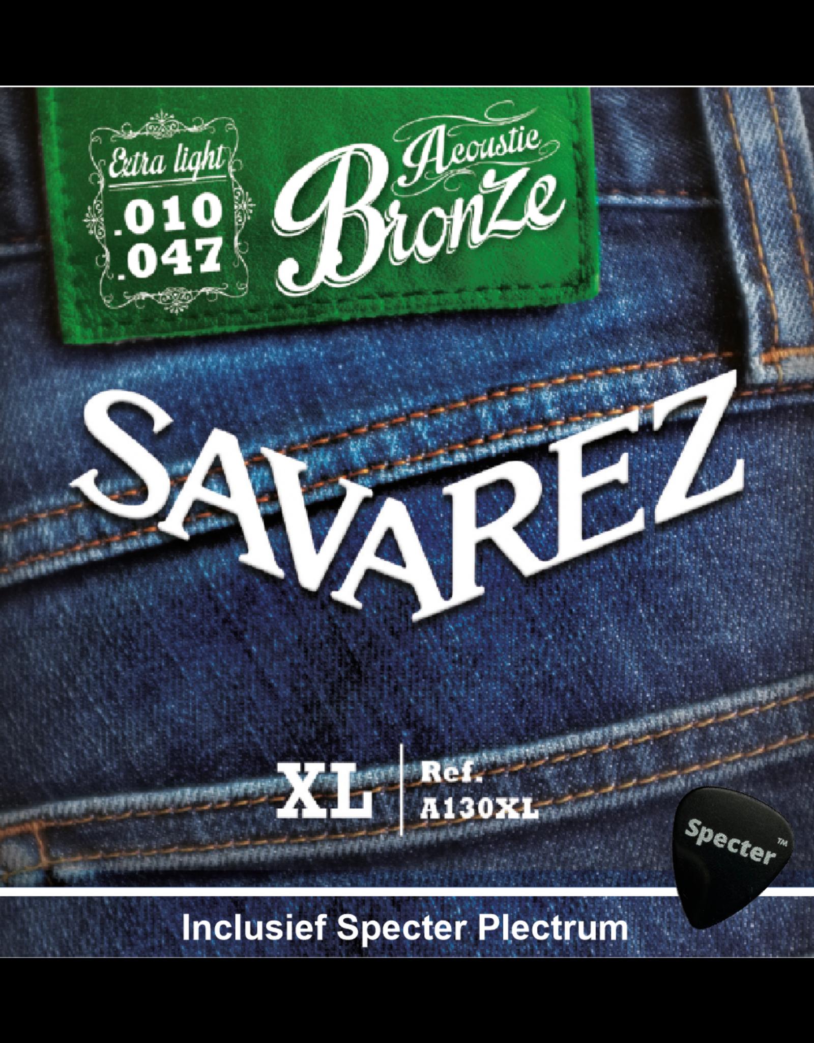 Savarez Savarez A130XL Premium Gitaarsnaren Voor De Akoestische Gitaar Met Specter Plectrum | Snarenset | Akoestisch | Stalen Snaren