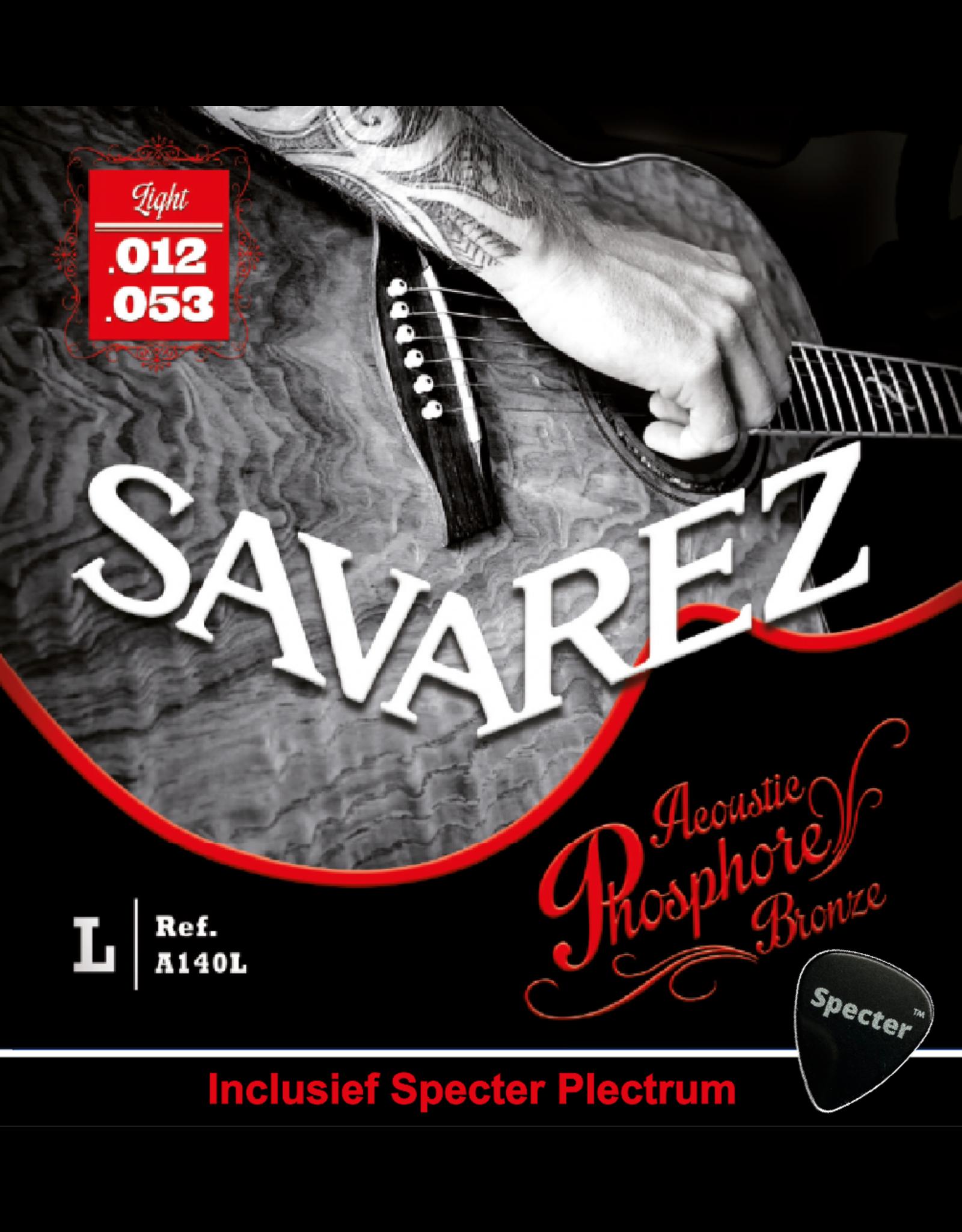 Savarez Savarez A140L Premium Gitaarsnaren Voor De Akoestische Gitaar Met Specter Plectrum | Snarenset | Akoestisch | Stalen Snaren