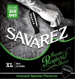 Savarez Savarez A140XL Premium Gitaarsnaren Voor De Akoestische Gitaar Met Specter Plectrum | Snarenset | Akoestisch | Stalen Snaren