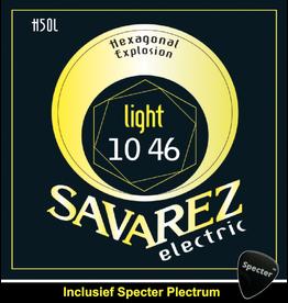 Savarez Savarez H50L  Premium Gitaarsnaren Voor De Elektrische Gitaar Met Specter Plectrum | Snarenset | Elektrisch | Stalen Snaren