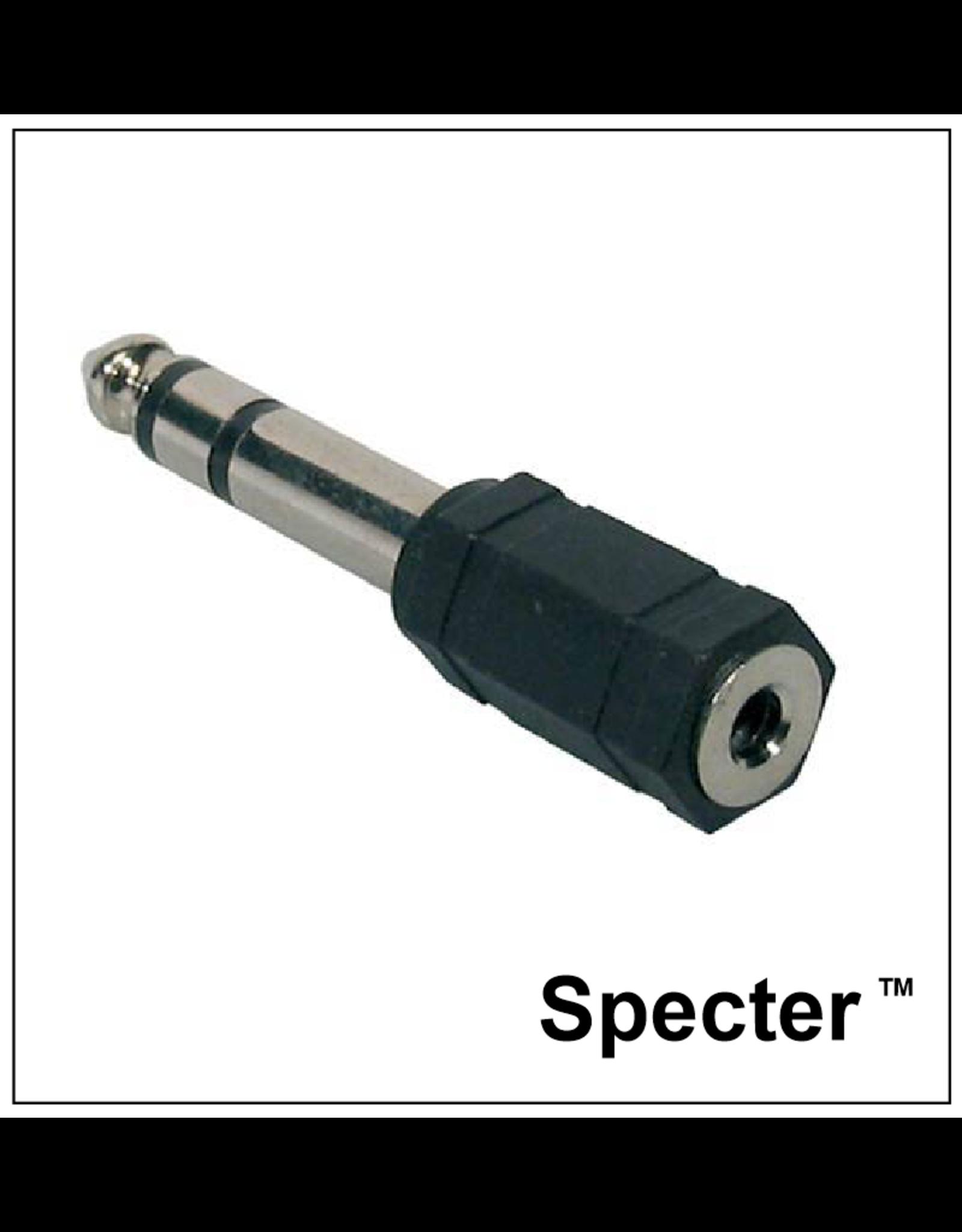 specter Specter Verloopplug van Mini Jack naar Grote Jack 6.3mm