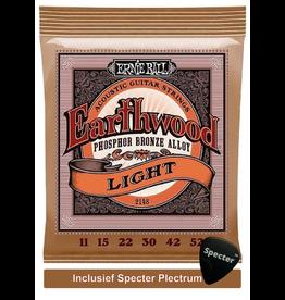 Ernie Ball Ernie Ball Earthwood Snarenset Akoestisch EB-2148 met specter plectrum