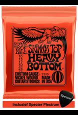 Ernie Ball Ernie Ball 2215 Skinny Top Heavy Bottom Snaren Elektrisch gitaarsnaren met Specter plectrum