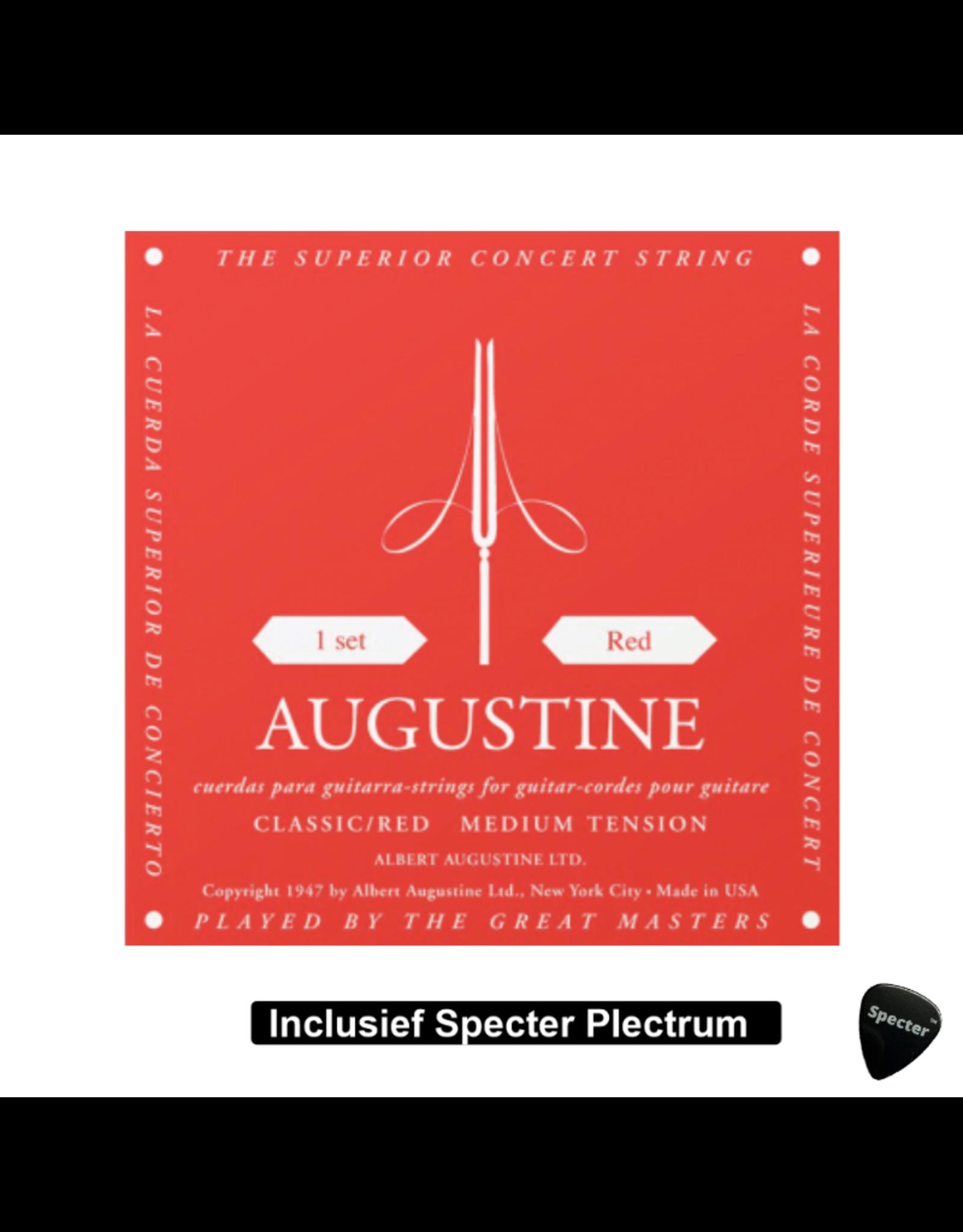augustine Augustine - AU-RED Concert Snaren voor klassieke gitaar Met Plectrum | Snarenset | Klassieke gitaar