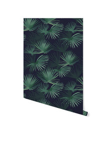 Creative Lab Amsterdam Palm Leaves Dark Green Behang op rol
