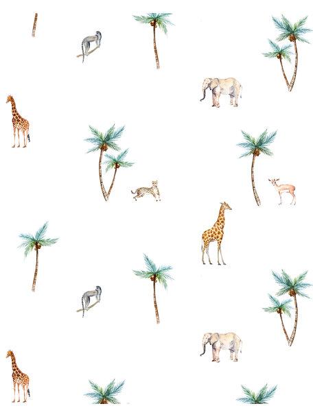 Creative Lab Amsterdam Savannah Palmtree Wallpaper on roll
