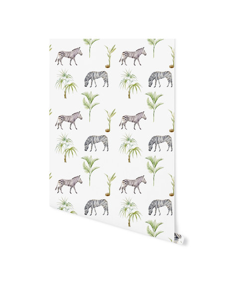 Creative Lab Amsterdam Zebra Palm Wallpaper on roll