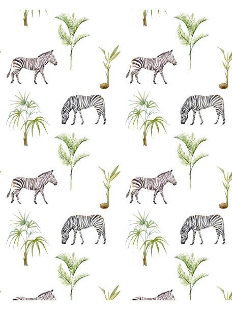 Creative Lab Amsterdam Zebra Palm Behang op rol