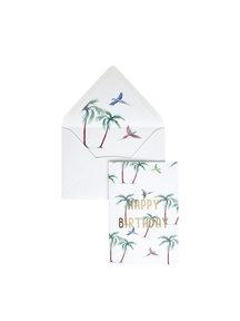 Creative Lab Amsterdam Parrot Palm Greeting Card