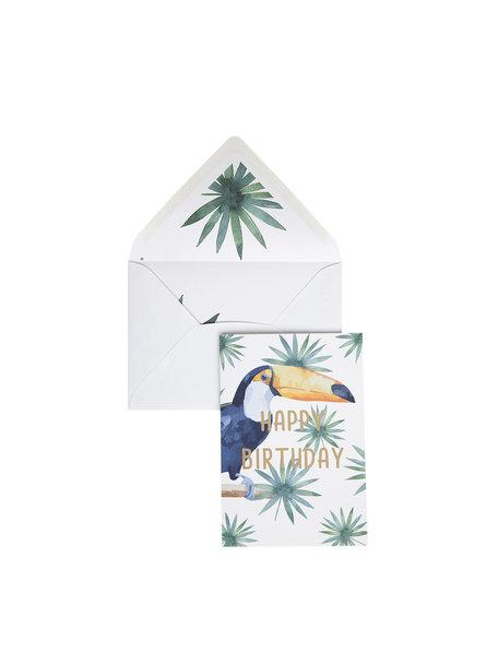 Creative Lab Amsterdam Tucan Greeting Card Birthday