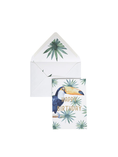 Creative Lab Amsterdam Tucan Greeting Card - Happy Birthday
