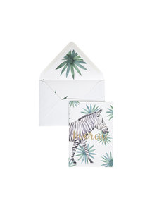 Creative Lab Amsterdam Zebra Hooray Greeting Card - Hooray