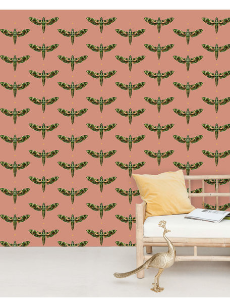 Creative Lab Amsterdam Dusty Pink Behang Mural Gold